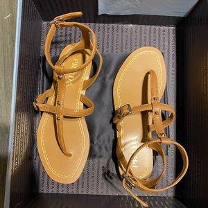 Authentic Prada brown gladiator sandals